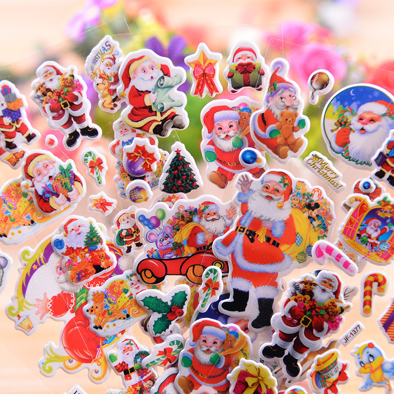 2PCS Santa Claus Snowman Elk Bear Christmas Ballpoint Students Stationery