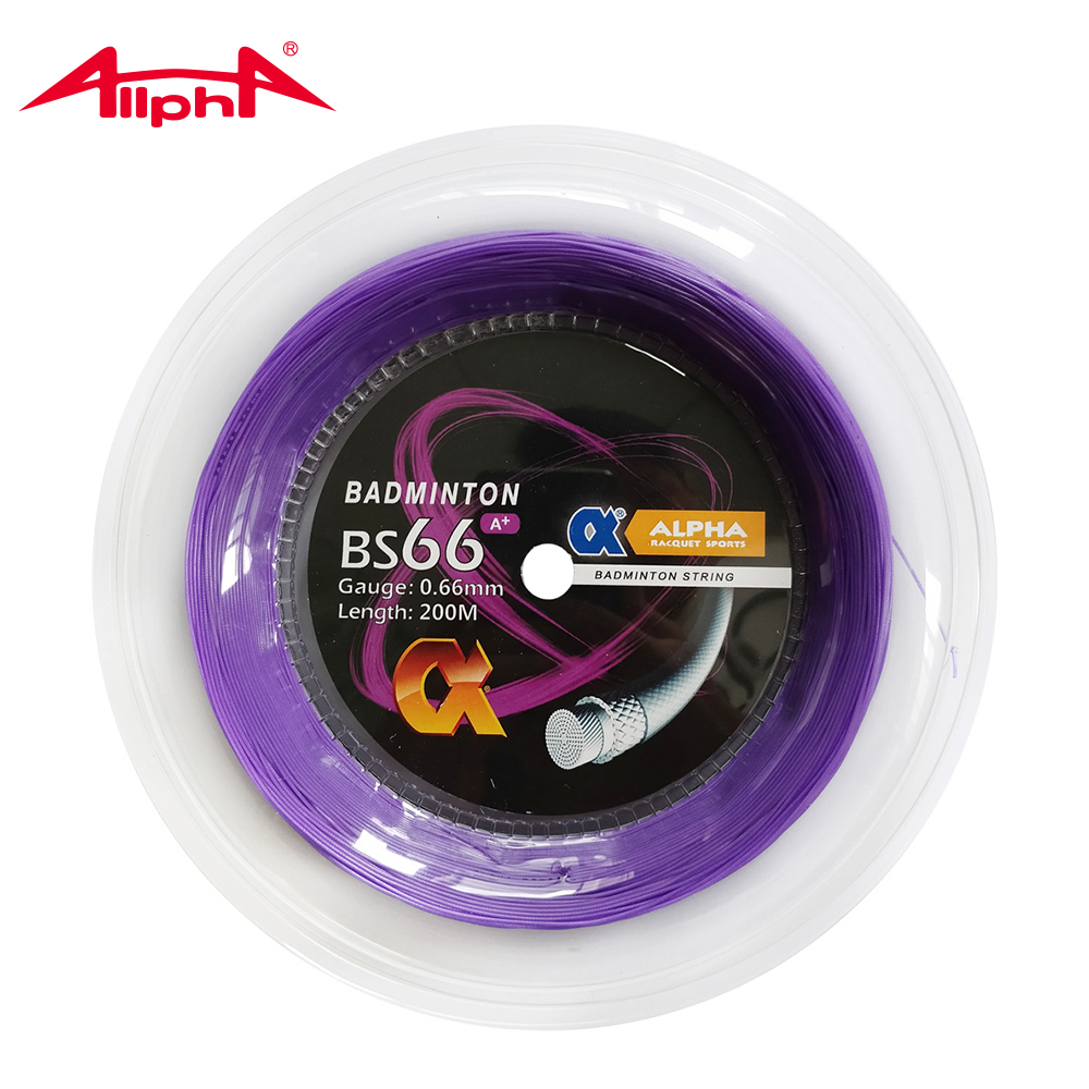 Alpha 0.66mm Badminton String Nylon Control BS66 A+ Durability 200m Reel Taiwan Good Quality Hitting Sound