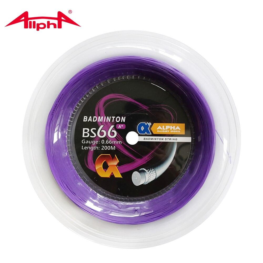 Alpha 0 66mm Badminton String Nylon Control BS66 A Durability 200m Reel Taiwan Good Quality Hitting