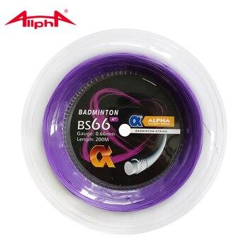 Alpha 0.66mm Stringa di Volano Nylon di Controllo BS66 A + Durata 200 m Bobina di Taiwan il Suono Colpire di Buona Qualità
