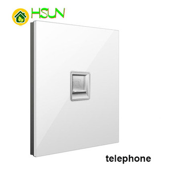 86 Type White Tempered glass Switch 1 2 3 4 gang 1 2 way Lizard Point Switch Comuter TV Telephone Socket Household Wall Switch 9