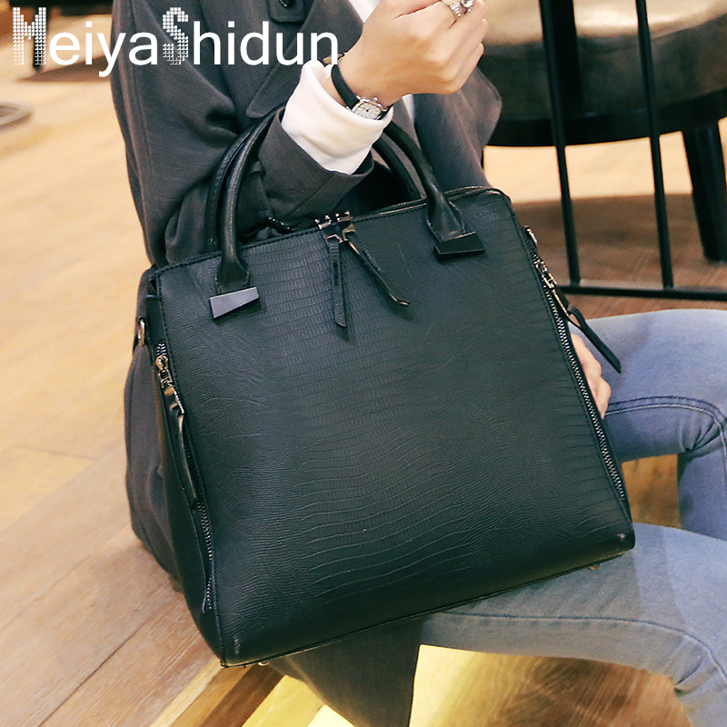 ФОТО MeiyaShidun New simple women Bag Luxury leather women handbags Snake tote Europe fashion Shoulder Messenger Bag Bolsas femininas