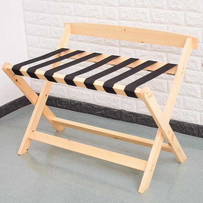 Гостиничная багажная полка мебель для отеля вешалка для спальни напольная Складная Бытовая прикроватная вешалка для одежды деревянный - Цвет: 80x50x65cm