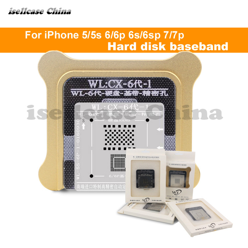 Wozniak WL Best For Iphone 5 5s 6 6s 7 8 XS MAX Plus NAND Processor BGA Reball Tin Net HDD Baseband Stencil Great Repairing Base