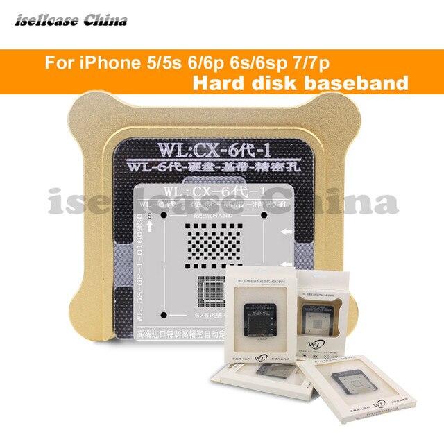 Wozniak WL Best for iphone 5 5s 6 6s 7 8 XS MAX Plus NAND processor BGA reball Tin Net HDD Baseband Stencil Great Repairing Base