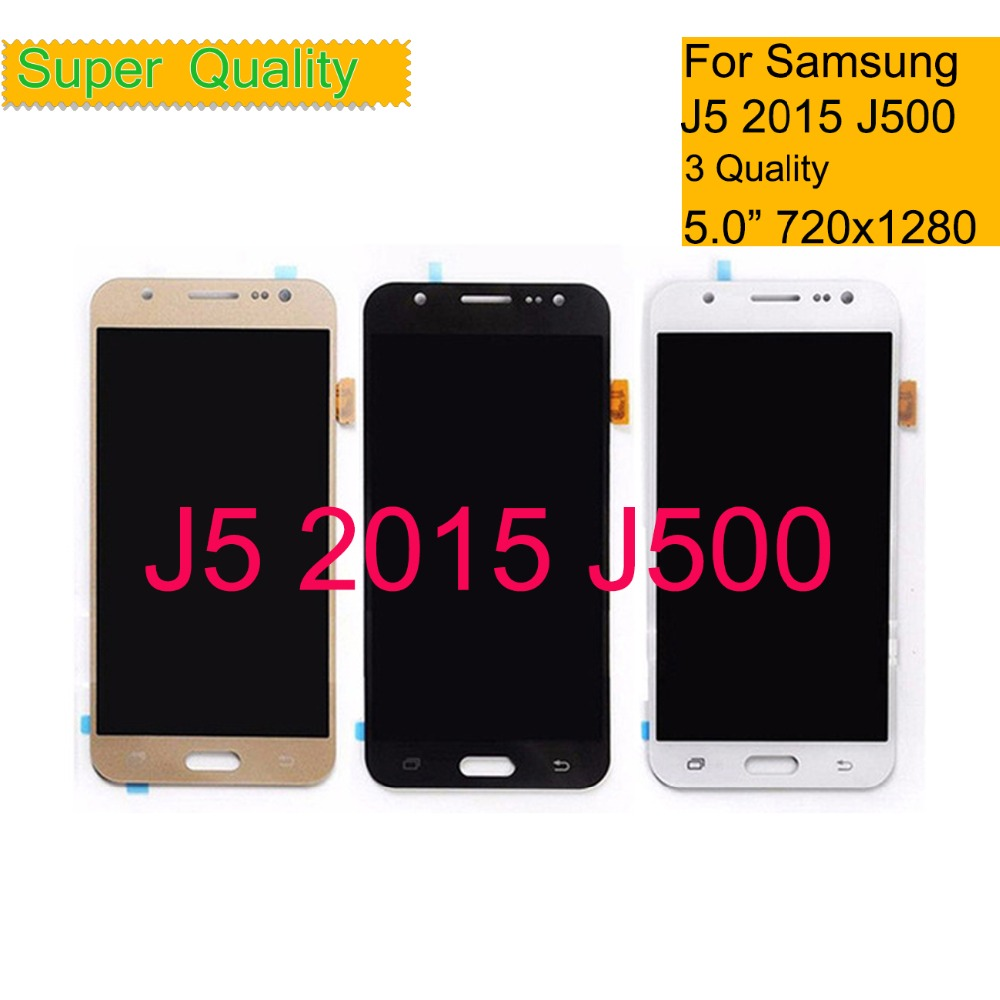 ORIGINAL Super AMOLED For Samsung GALAXY <font><b>J5</b></font> <font><b>J500</b></font> J500F J500FN J500M J500H 2015 LCD Display With Touch Screen Digitizer Assembly image
