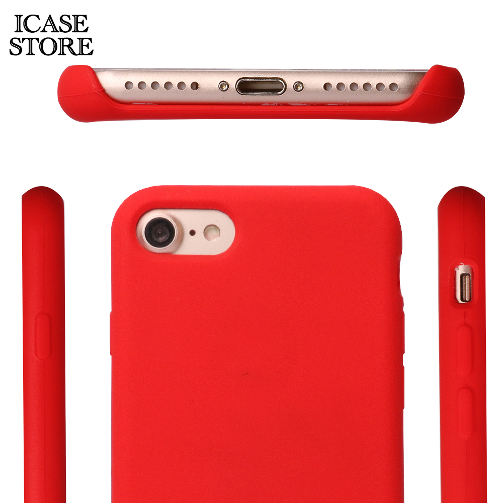 half off 9f37b 44b02 US $3.81 |Ikase Store Liquid silicone phone case for iphone xs Max xr x  Soft touch luxury silicone case cover for iphone 8 7 6 6s plus -in Fitted  ...