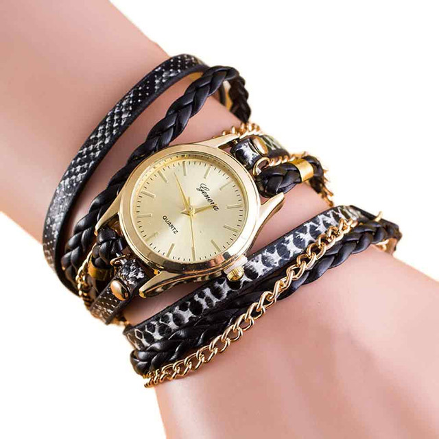 Aimecor Womens Fashion Wrap Around Bracelet Watch ladies watches Synthetic Leath
