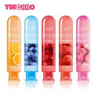 Lubricante con sabor a fruta comestible de 80ml lubricante no tóxico a base de agua lubricante Sexual Anal Oral Gel lubricante para pareja productos sexuales para adultos