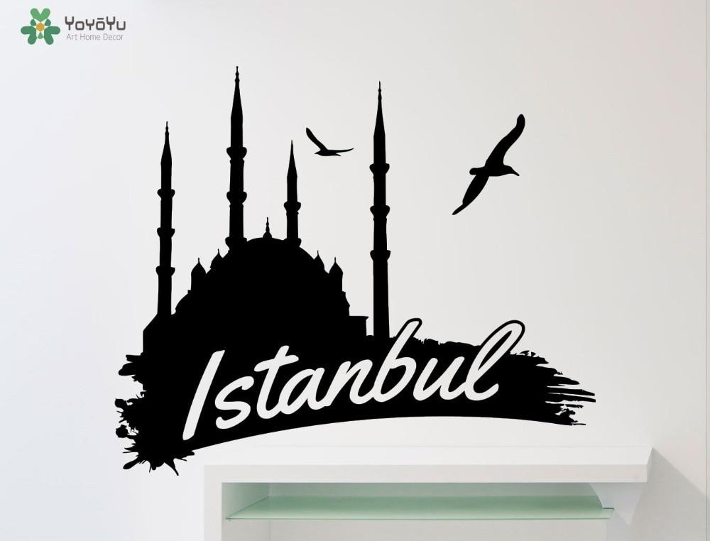 High Quality Istanbul Word Logo Wall Decal Interior Turkey Vinyl Wall Sticker Livingroom Art Sign Mural DIY Kids Room DecorSY321-in Wall Stickers from Home ... & High Quality Istanbul Word Logo Wall Decal Interior Turkey Vinyl ...