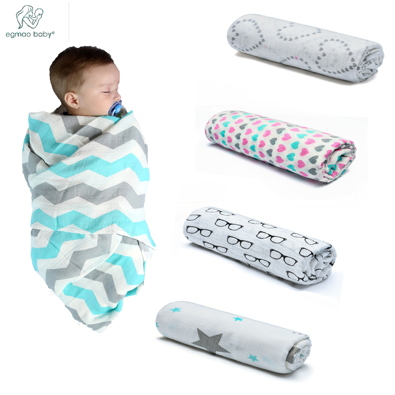 High Quality Newest Saft Frivolous Musin Neweborn 120*120 CM Muslin Blanket Orgonic Cotton Baby Bath Towel Baby Swaddles