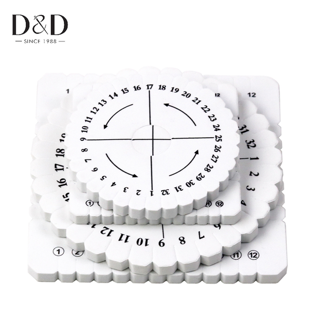 Round&Square Knitting Kumihimo Disc Disk Braided Rope Knot Weaving Plate Jewelry Desgin Board 2 Sizes