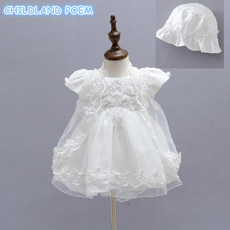 Baby Christening Gown Baby Girl Dress Newborn Vestidos Lace Kids Infant 1 Year Birthday Wedding Party Baptism Dresses for Baby princess girl party dress children wedding birthday tutu dress infant lace corchet christening gown baby girls dresses clothes