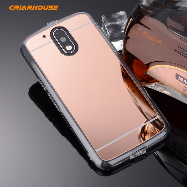 Criar house rose gold mirror plating soft clear tpu for Miroir rose gold