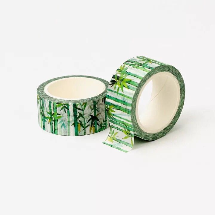 1Roll=20mmx8m High Quality Bamboo Pattern Japanese Washi Decorative Adhesive DIY Masking Paper Tape Label Sticker Gift Wholesale
