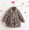Y038 Varejo 2016 New Meninas Do Bebê Inverno Casaco de Leopardo Impressão Outerwear Menina Moda Roupas de Menina Moda Inverno