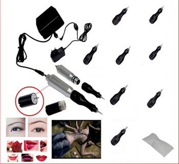 tattoo permanent makeup pen kit professional piercing set for eyebrows embroidery cosmetic tattoo machine