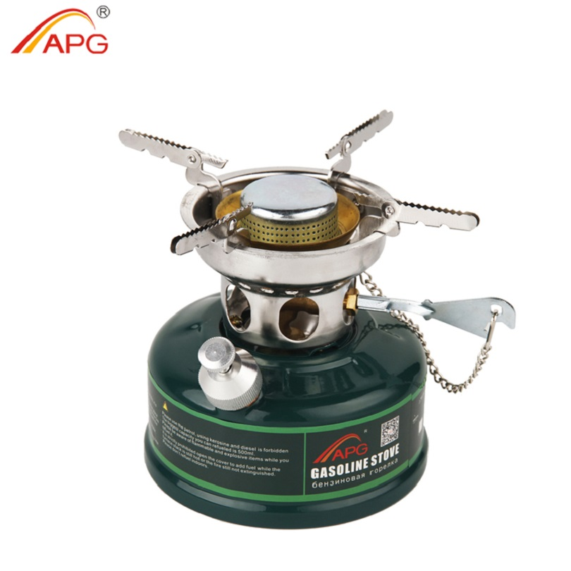APG Outdoor Camping Gasoline Stove Non Preheating Sound Proof Oil Stove Burners Cookware Portable Cooking Gasoline Stove image