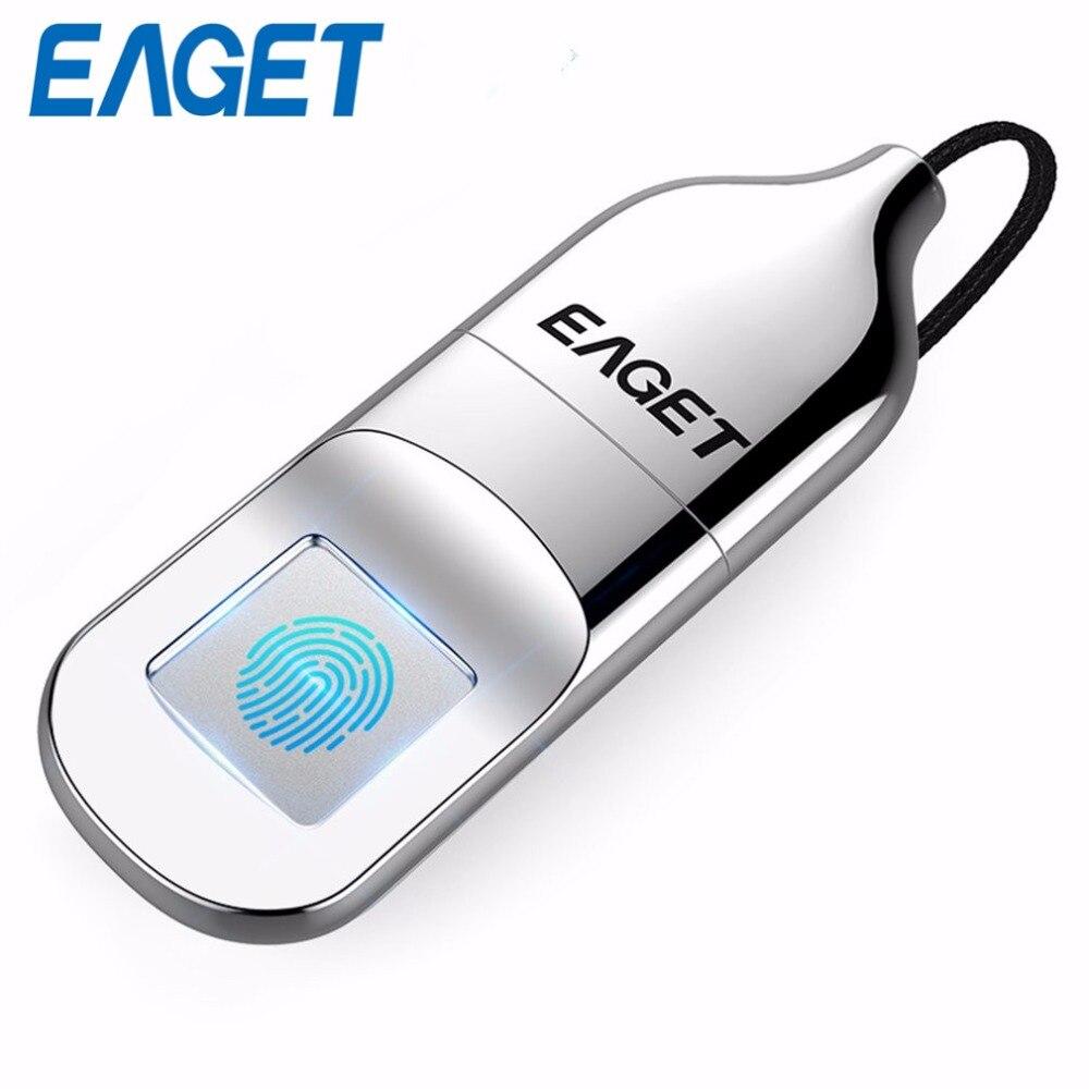 Lecteur Flash USB EAGET 32 go clé USB 2.0 reconnaissance d'empreintes digitales disque Flash clé USB Mini lecteur de stylo