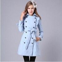 Women Winter Coat Fashion Women S New Lace Cloth Coat Women S Clothing Material Trench Coat