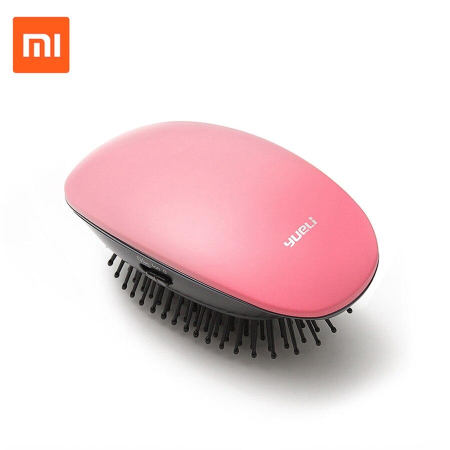Xiaomi Yueli portátil del masaje del pelo del cepillo del peine iones negativos aerógrafo belleza anión de salón de pelo estilo domador herramienta cepillos