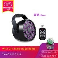 18 LEDs UV Stage Par light DMX 512 DJ Projector Machine 18W Master slave Disco Light for Party Wedding KTV Club LED Stage Light