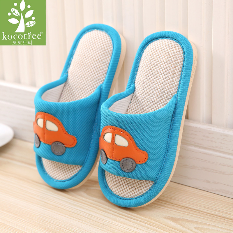 Funny Pixel Fox Print Summer Slide Slippers for Boy Girl Indoor Casual Home Sandals Shoes