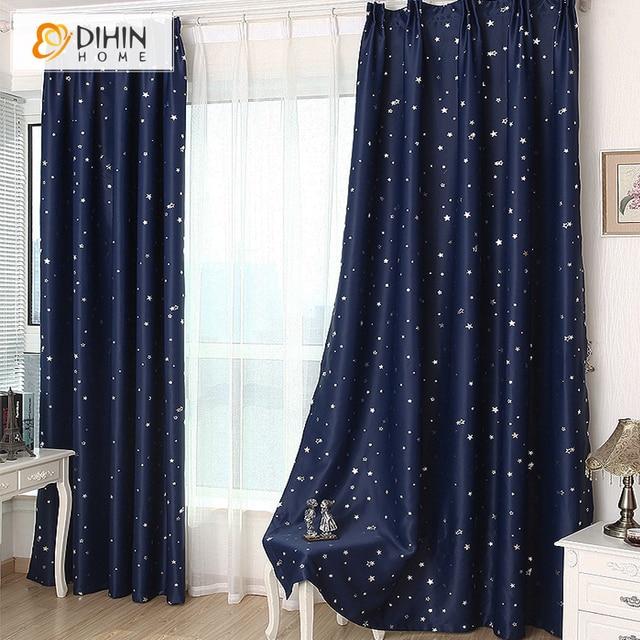 Dihin 1 Panel Stern Blackout Vorhange Fur Schlafzimmer Wohnzimmer