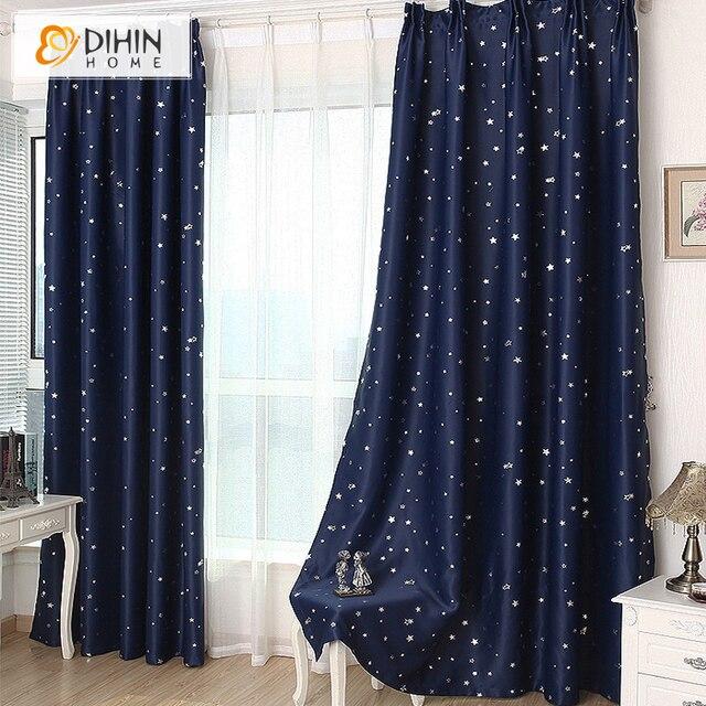 DIHIN 1 panneau etoile rideaux occultants pour chambre salon rideau chambre  enfant rideau la cortina del apagon cortina para sala