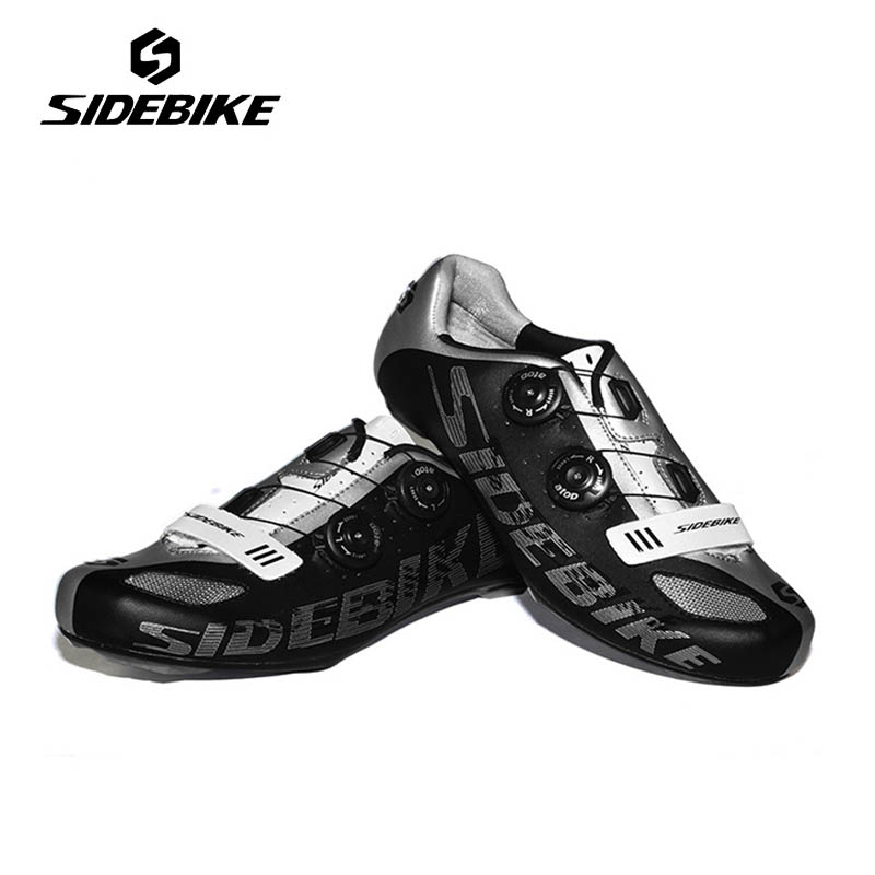 SIDEBIKE Bicycle Bike Cycling Shoes Self-Locking Shoes Lightweight Highway Road Bike Racing Shoes Sapatilha Ciclismo Zapatillas sidebike mens road cycling shoes breathable road bicycle bike shoes black green 4 color self locking zapatillas ciclismo 2016