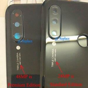 Image 4 - Оригинальный 6,1 дюймовый для Huawei P30 Lite / Nova 4E MAR LX1 L01 L21 L22 стеклянная задняя крышка батарейного отсека Корпус батарейного отсека задняя крышка