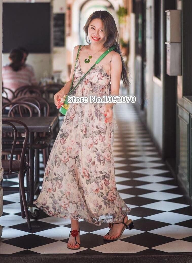 Women Cream Floral Jasper Ruffle Jumpsuit Self tie Spaghetti Shoulder Straps Silk Cream Floral Wide Leg Playsuit