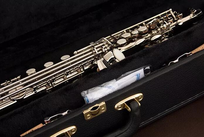 Eagle Sp502n Straight Soprano Saxophone Nickel Plated B Tone Soprano Sax with Case Promotion