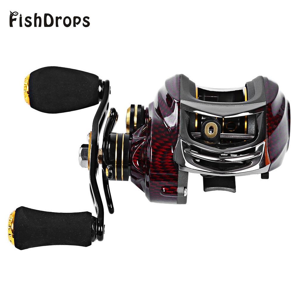 Fishdrops BC150 18 Ball Bearings 6.3:1 Fishing Reel Ocean River Left Right Hand Bait Casting Fishing Reel Pesca Baitcasting Reel