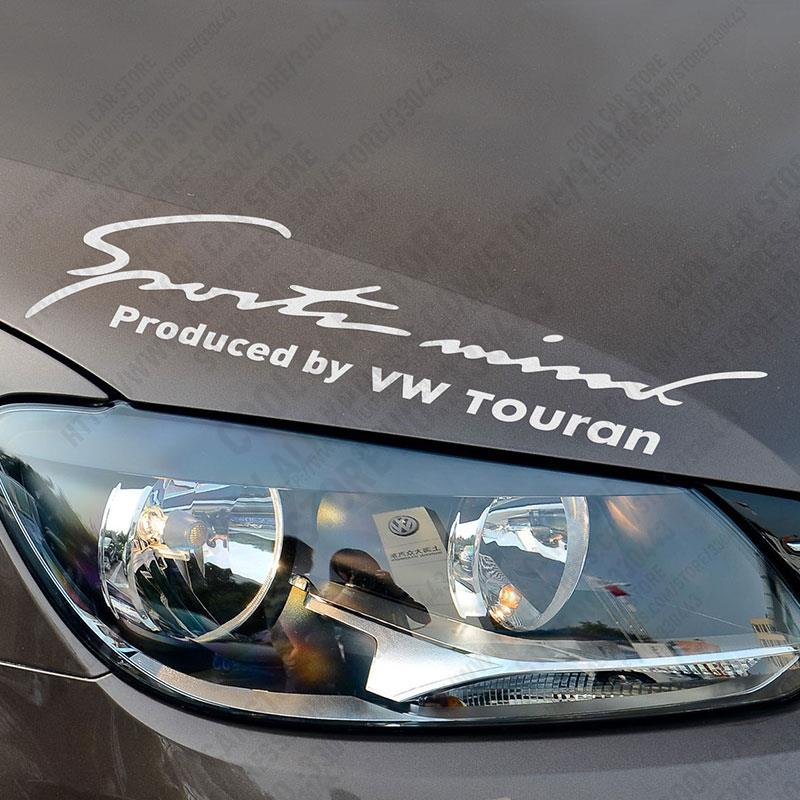 New Arrival Sports Mind Car Covers <font><b>Sticker</b></font> Decal Car-Styling For <font><b>VW</b></font> volkswagen <font><b>TOURAN</b></font> exterior accessories image