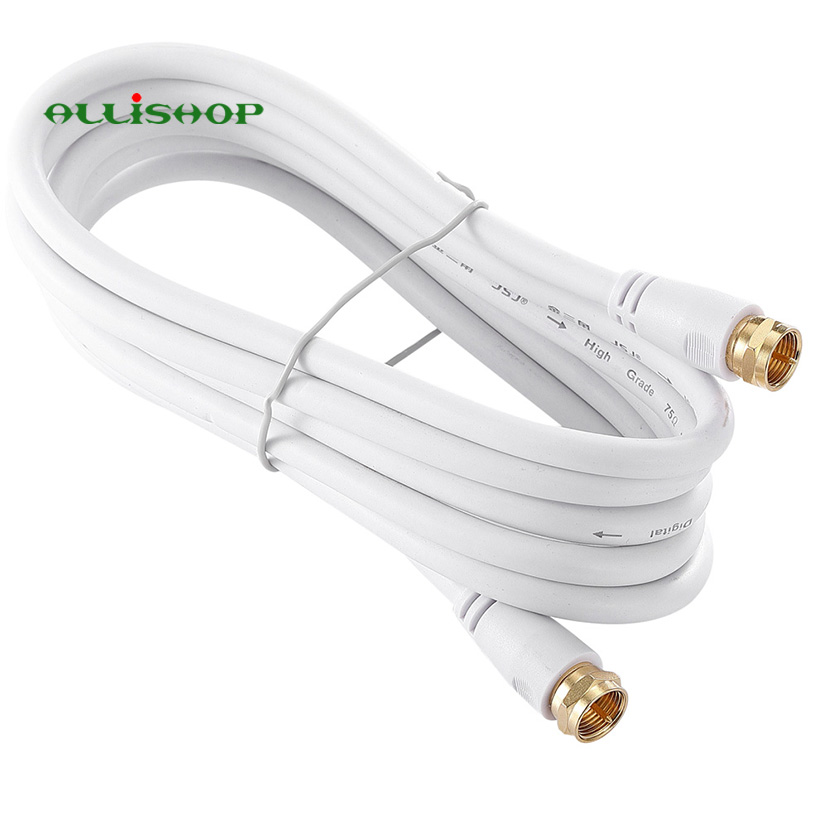 TV F Coaxial Cable Flylead Aerial Male to Male RF RG6 Satellite Antenna Cable F Type Male to Male RF Coaxial Cable|Connectors| |  - title=
