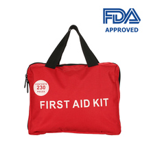 230PCS Handy First Aid Kit Bag Treatment Medical Rescue Safe First Aid Kit Medical Emergency Survival for Outdoor Camping Hiking new 10 pairs pack aed training machine adult electrode pads use for simulated first aid rescue heartstart trainer