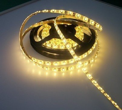 Free shipping Brand New 5M  60LED/M 3528 SMD Warm White Flexible Water proof Light Strip