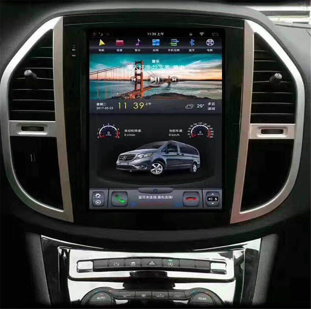 12,1 ''вертикальный Тесла стиль Android 7,1 автомобильный DVD gps плеер Автоматическая навигация радио для Mercedes Benz VITO 2016 2017 2018 метрис