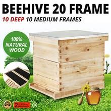 Набор коробок с 20 рамами для улья(10 глубоких-10 средних) Langstroth Пчеловодство