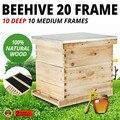 Набор коробок с 20 рамами для улей (10 глубоких-10 средних) лангстрот для пчеловодства