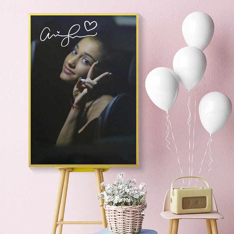 アリアナグランデ愛ハート壁アートキャンバス絵画ポスタープリント写真リビングルームの装飾ホーム油絵装飾