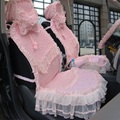 Кружева Дизайн, Роскошные Розовые Девушка Автомобиль Seat Охватывает полный Набор женщин автомобиль чехлы на сиденья задний фронт и все аксессуары