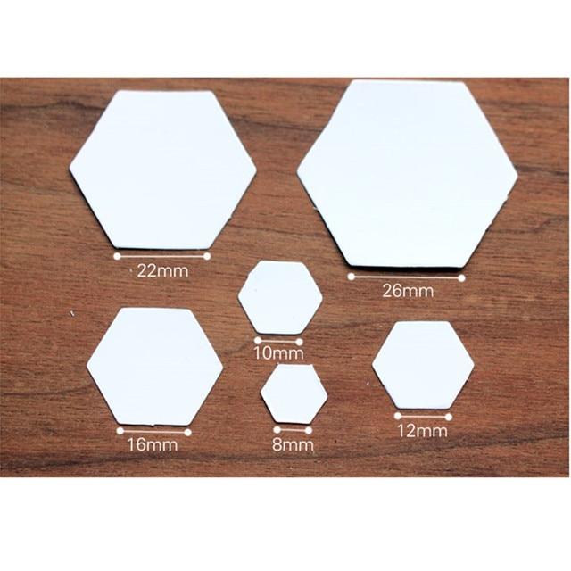 100pcs lot hexagon paper quilt template grandmother s flower quilt template handmade patchwork fabric sew diy
