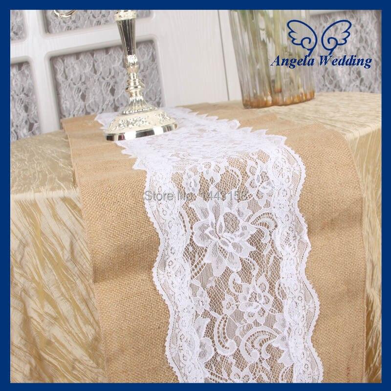 Ru001c Hot Sale Nice Custom Made Wedding Burlap And Lace