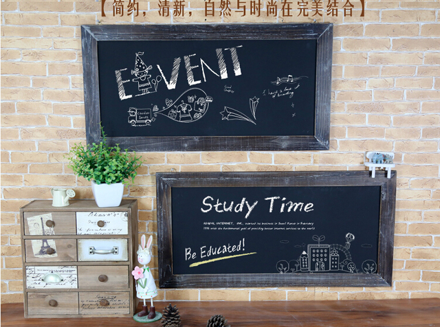 Free Shipping Vintage Home Decor Framed Chalk Board High
