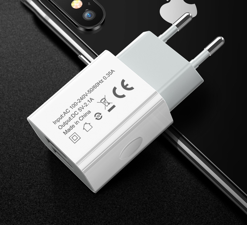 VIAERSON 5V 2.1A USB Charger for iPhone Xs 7 iPad Fast Wall Charger EU Adapter for Samsung