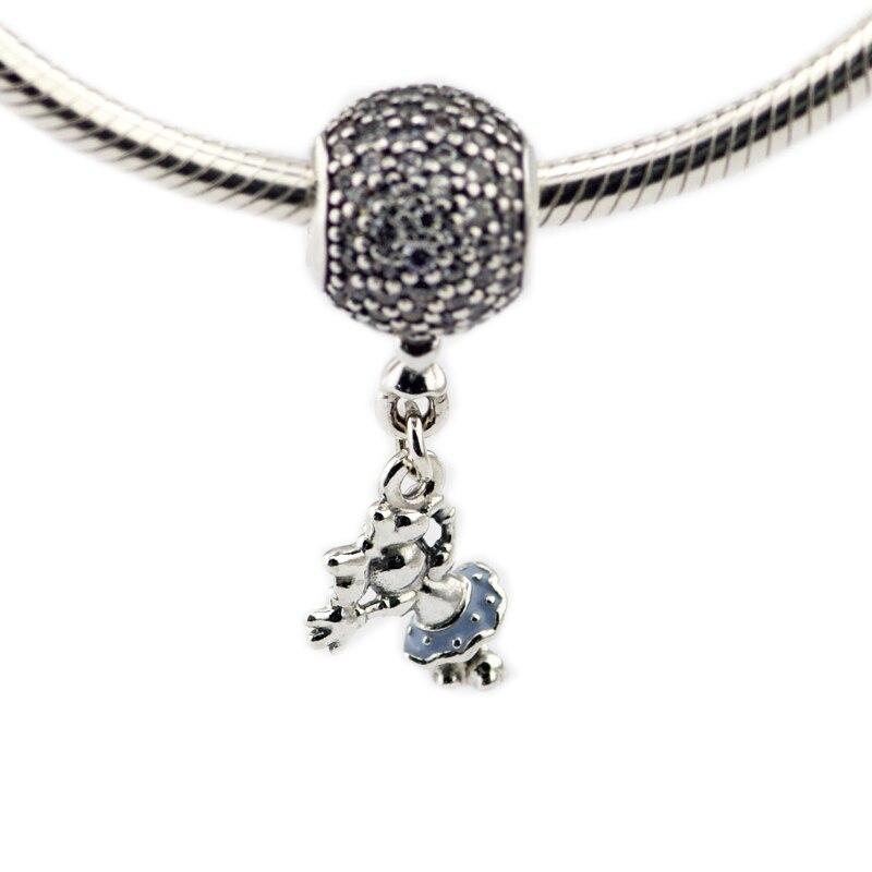 afaaa61d3cf9 Pandulaso mujer joyería DIY ratón flotante colgante encanto cuentas de moda  para hacer joyería se adapta a pulseras de plata esterlina