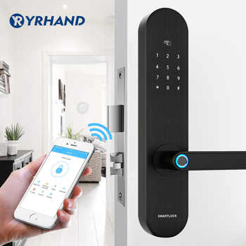 YRHAND Biometric Fingerprint Lock, Security Intelligent Lock With WiFi APP Password RFID Unlock,Door Lock Electronic Hotels