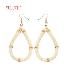 YULUCH Novelty bamboo hollow drop earrings for women party s